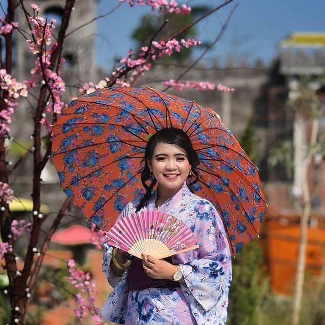 pohon-sakura-dan-baju-kimono-jepang